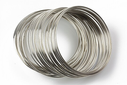 Sarma cu memorie otel inoxidabil, argintiu inchis 5,5cm, grosime 1mm (10 spire)