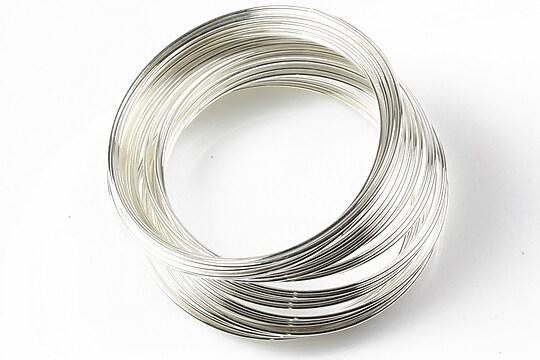 Sarma cu memorie otel inoxidabil, argintie 5,5cm, grosime 1mm (10 spire)
