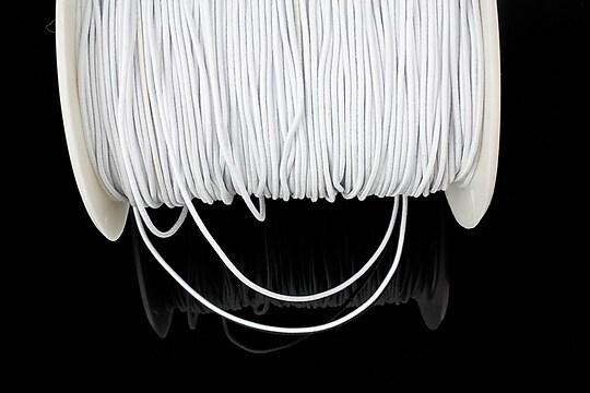Elastic 1mm - alb (1m)