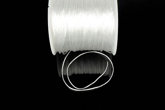 Elastic pentru bratari Crystal String 0,8mm - rola 45m - alb