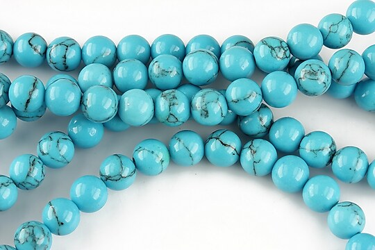 Howlit albastru, sfere 6mm