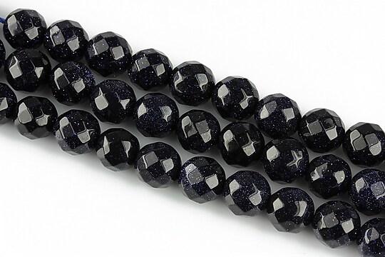 Blue Goldstone sfere fatetate 8mm