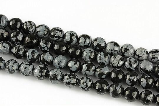 Snowflake obsidian sfere fatetate 6mm