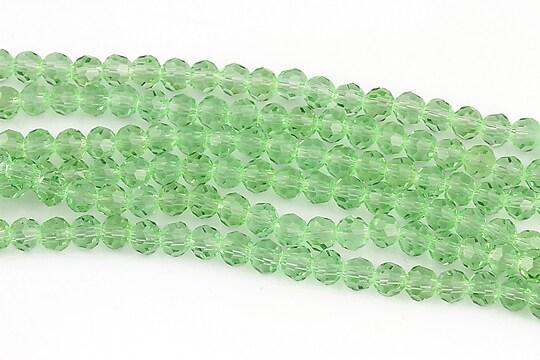 Cristale rotunde 4mm (10 buc.) - verde deschis
