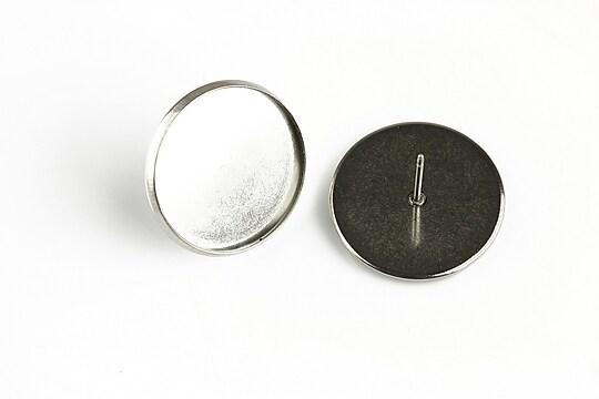 Baza cercei otel inoxidabil 304, 20x12mm, platou 18mm (2 buc.)