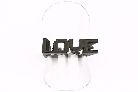 Inel Love negru (marimea 18)