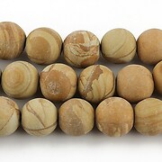 Wood jasper frosted sfere 10mm