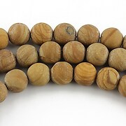 Wood jasper frosted sfere 8mm