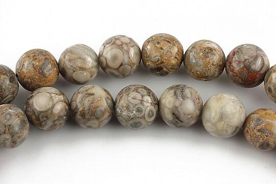 Crinoid fossil jasper sfere 10mm