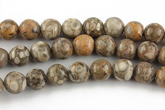 Crinoid fossil jasper sfere 8mm