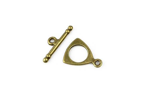 Inchizatoare toggle bronz 19x16mm