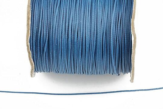 Snur cerat grosime 0,8mm, albastru marin (10m)