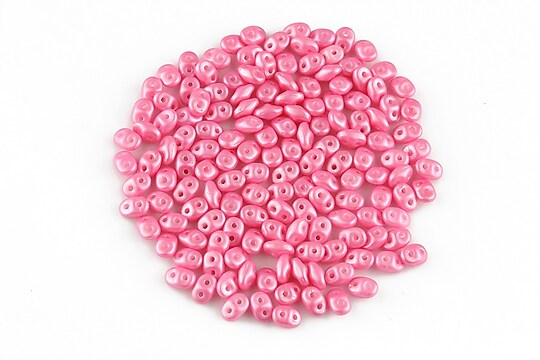 Margele Super Duo 2.5x5mm - Pearl Shine - Pink