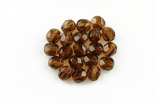 Margele fire polish 6mm - Smoky Topaz