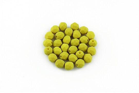 Margele fire polish 4mm (10 buc.) - Lemongrass