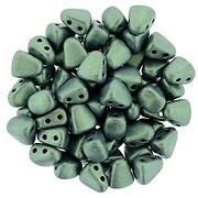 Margele NIB-BIT 6x5mm - Metallic Suede - Lt Green