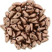 Margele PRONG 3x6mm - Matte - Metallic Bronze Copper