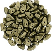 Margele PRONG 3x6mm - Metallic Suede - Gold