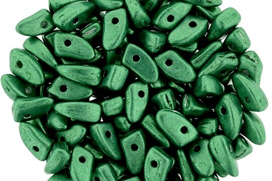 Margele PRONG 3x6mm - Saturated Metallic Lush Meadow