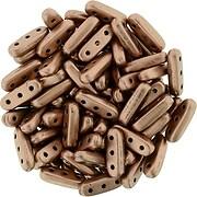Margele CzechMates BEAM 3x10mm - Matte - Metallic Bronze Copper