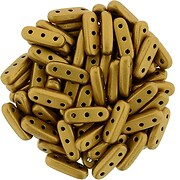 Margele CzechMates BEAM 3x10mm - Matte - Metallic Goldenrod