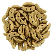 Margele CzechMates CRESCENT 3x10mm - Saturated Metallic Gold