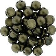 Margele CzechMates CABOCHON 7mm - Metallic Suede - Dk Green