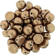 Margele CzechMates CABOCHON 7mm - Saturated Metallic Warm Taupe