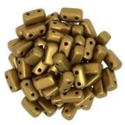 Margele CzechMates BRICKS 3X6mm - Matte - Metallic Goldenrod