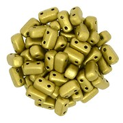 Margele CzechMates BRICKS 3X6mm - Matte - Metallic Aztec Gold