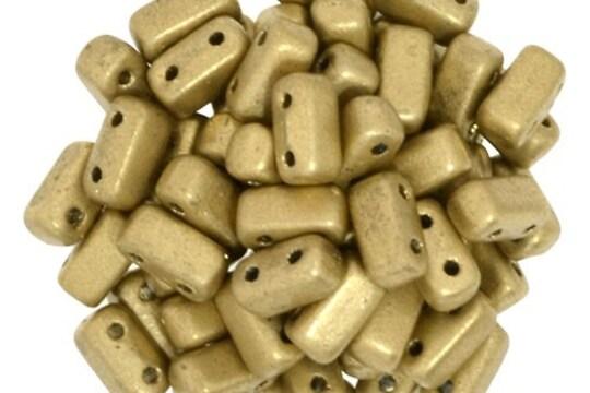 Margele CzechMates BRICKS 3X6mm - Matte - Metallic Flax