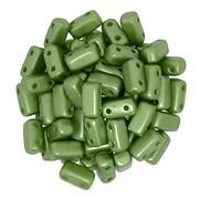 Margele CzechMates BRICKS 3X6mm - Pearl Coat - Olive