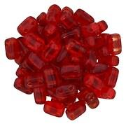 Margele CzechMates BRICKS 3X6mm - Siam Ruby