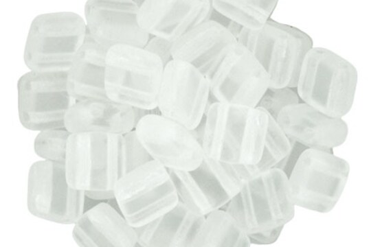 Margele CzechMates TILE BEADS 6mm - Matte - Crystal