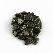 Margele CzechMates TRIANGLES 6mm - Metallic Suede - Dk Green