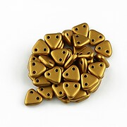Margele CzechMates TRIANGLES 6mm - Matte - Metallic Goldenrod