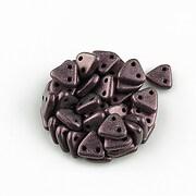 Margele CzechMates TRIANGLES 6mm - Metallic Suede - Pink