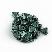 Margele CzechMates TRIANGLES 6mm - Metallic Suede - Lt Green