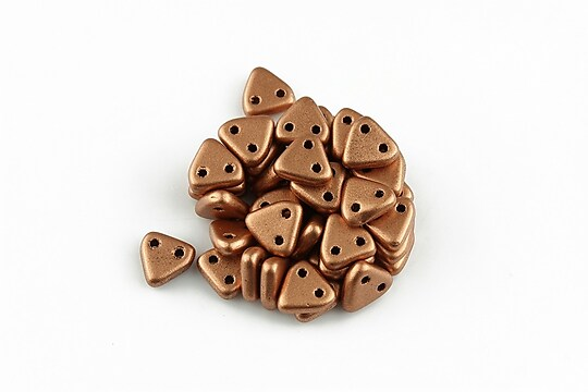 Margele CzechMates TRIANGLES 6mm - Matte - Metallic Copper