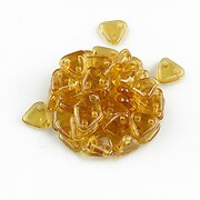 Margele CzechMates TRIANGLES 6mm - Topaz Luster - Transparent Champagne
