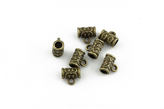 Agatatoare pandantiv bronz 7x7x4mm