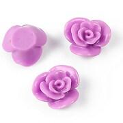 Cabochon rasina floare 17mm - lila