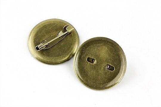 Baza brosa bronz cu platou 22mm