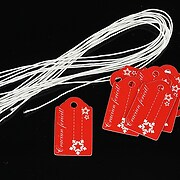 Etichete rosii Craciun Fericit 25x15mm (10buc.)