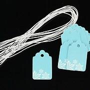 Etichete albastre fulgi de nea 25x15mm (10buc.)