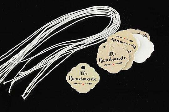 Etichete 100% Handmade 21x21mm (10buc.)