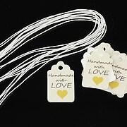 Etichete Handmade with love 25x15mm (10buc.)