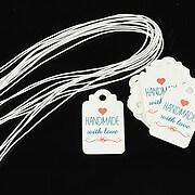 Etichete Handmade with love 25x15mm (100buc.)
