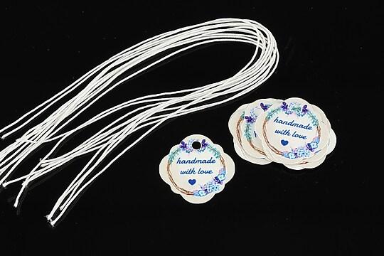 Etichete Handmade with love 21x21mm (10buc.)