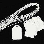 Etichete albe simple 25x15mm (100buc.)